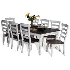 9 Pc Dining Room Set by 9 Piece Extension Dining Table Set With Ladderback Chairs By Sunny
