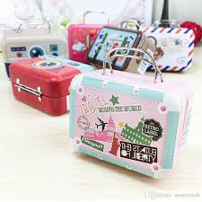 Suitcase Favors by 75 35 55mm Small Tin Iron Vintage Rectangle Handbag Suitcase
