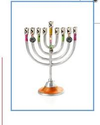 hanukkah candles colors silver gold menorah hanukia chanukah gift chanukah candle
