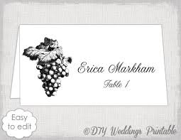 place card template grapes name card templates