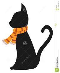 halloween cat vector stock vector image 58935869