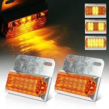 led lights for pickup trucks partsam 2x12led amber pickup truck trailer led marker clearance