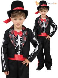 skeleton halloween costumes for kids boys skeleton suit bond day of the dead groom costume halloween