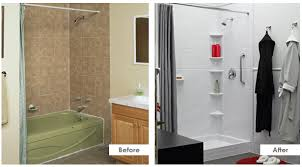Converting Bathtub To Shower Cost Bath Fitter Before And After Let Astrong Construction Makover
