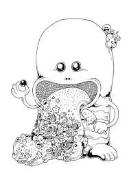 doodle invasion u2013 a cute and complex coloring book for grown ups