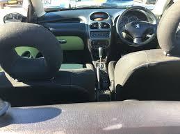 peugeot cabriolet 206 peugeot 206 cabriolet 1 6 automatic david mitchell u0027s motor store