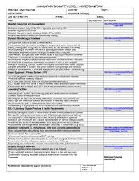 bl2 recombinant laboratory audit checklist
