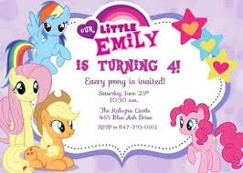 my little pony birthday invitations dhavalthakur com