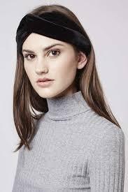 velvet headband topshop velvet knot headband in black lyst