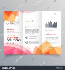 Orange Colors Names Business Trifold Brochure Template Soft Pink Stock Vector