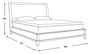 Height Of Bed Frame Bedford Heights Gray 3 Pc King Bed Beds Colors