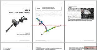 kia mdps motor driven power steering service training auto
