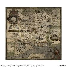 Hampshire England Map by Vintage Map Of Hampshire England 1575 Poster Poster England