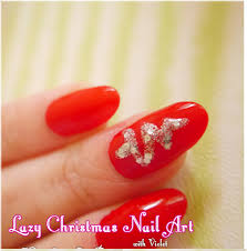 how to do christmas tree nail art tutorial violet lebeaux