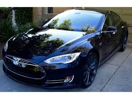 Tesla Carbon Fiber Interior Tesla Model S 85 4dr Sedan 34k Miles Signature Red Los Altos