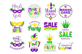 mardi gras for sale mardi gras lettering typography set emblems logo with text sign