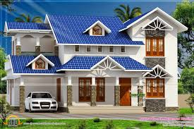 kerala modern home design 2015 sloping roof house kerala home design architecture plans 324900