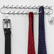 Ideas For Wall Mounted Tie Rack Design Closet Tie Rack Contemporary Wall Mount White In And Belt Racks 15