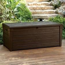 Outdoor Storage Box Bench Keter Saxon Brightwood Xl Size 454l Waterproof Lockabl Garden