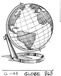 earth globe drawing