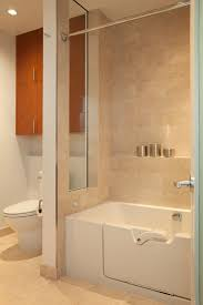 gray shower tile bathroom transitional with bath caddy bathroom