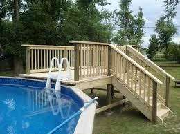 above ground pool deck plans oval wood decks around above ground