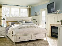 Wood King Platform Bed With Drawers Ivory Stained Wood King Size Platform Bed With Storage Cream Semi