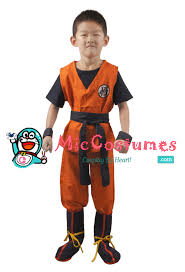 Boys Pumpkin Halloween Costume Dragon Ball Son Goku Kids Cosplay Costume Sale