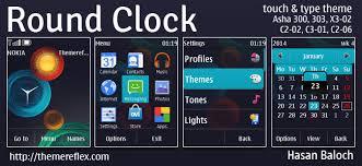 microsoft themes for nokia c2 01 round clock live theme for nokia asha 202 300 303 x3 02 c2 02
