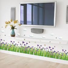 bluebonnet baseboard wall sticker diy kicking line wallpaper wall