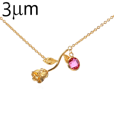 birthstone necklace for online shop flower necklace for women beauty and the beast