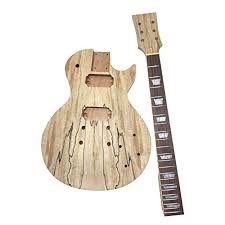 diy lp style spalted maple electric guitar kit build your own