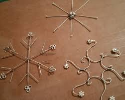 no two alike make snowflake ornaments and jewelry with wire