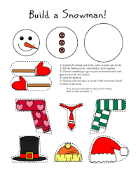 smarty pants fun printables printable snowman and snow woman arts