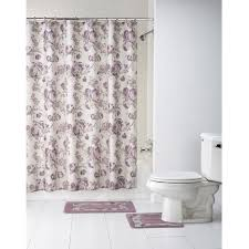 Bathroom Shower Curtain And Rug Set by Curtain Black Bathroom Set Ebay Throughout Bathroom Sets With
