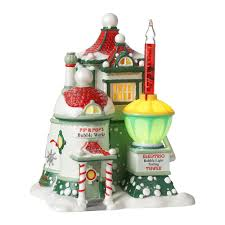 department 56 halloween village clearance department 56 north pole series village pip and pop u0027s bubble works