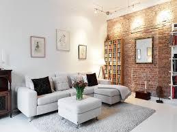 brick color living room decor carameloffers