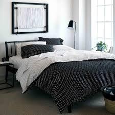 stitch black white reversible duvet cover king