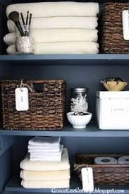 squared away the bathroom hall closet gray and organizations