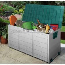 2015 new plastic garden outdoor storage bin deck cushion patio box