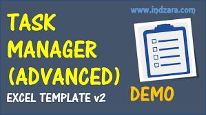 Task Manager Excel Template Task Manager Advanced Excel Template V2 Demo