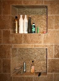 recessed shower shelves closet ideas