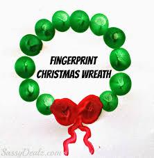 cute fingerprint christmas wreath craft for kids wreaths crafts