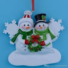 snowman family resin hanging ornaments with glossy as
