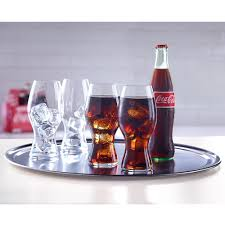 Coca Cola Six Flags Promotion The Riedel Crystal Coca Cola Glasses Hammacher Schlemmer