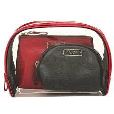 victoria s secret bag victorias secret 334019 l75 cosmetic bag trio cosmetic pouch black red