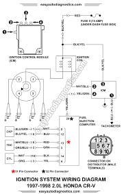 1998 2 0l honda cr v ignition system wiring diagram