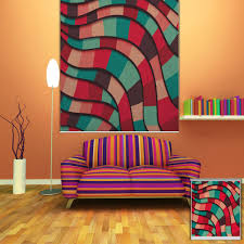 pag abstract color wall decor window curtain roller shutters print