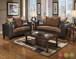 leather livingroom sets brown leather sofa set for living room with dark hardwood floors