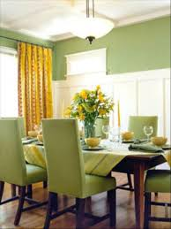 yellow dining room ideas these green wall dining room decoration paint settle from